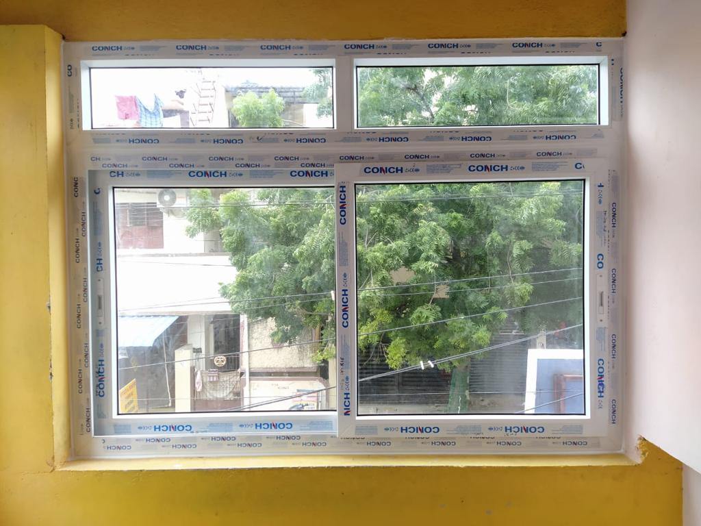 Sliding Window With Top Fixed Glass