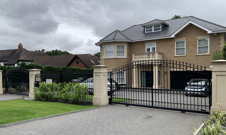 metal driveway gates security railings