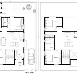 45X60-4-bedroom-south-facing-4bhk-2500sft-house-design-as-per-vastu-floor-plan-houzone