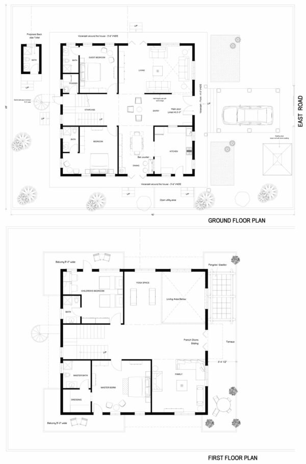 65X90-4-bedroom-east-facing-4bhk-3800sft-luxury-house-design-as-per-vastu-customized-floor-plans-houzone
