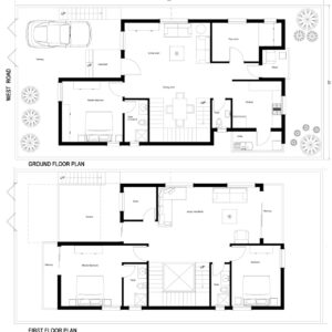 66X33-3-bedroom-west-facing-3bhk-2500sft-duplex-house-design-as-per-vastu-floor-plan-houzone