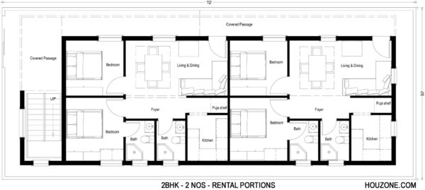 Rental-portions-2bhk-customized-house-plans-houzone