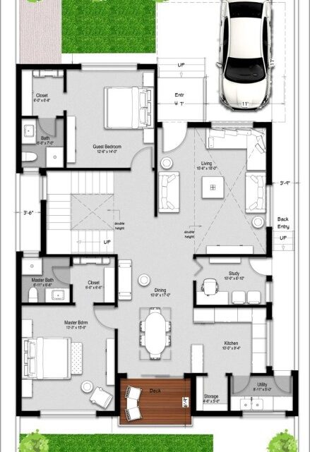 4 bedroom duplex floor house