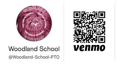 Woodland PTO Venmo QR Code