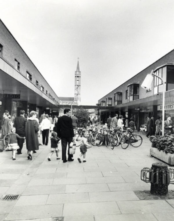 The Market Place shopping street in it's heyday
