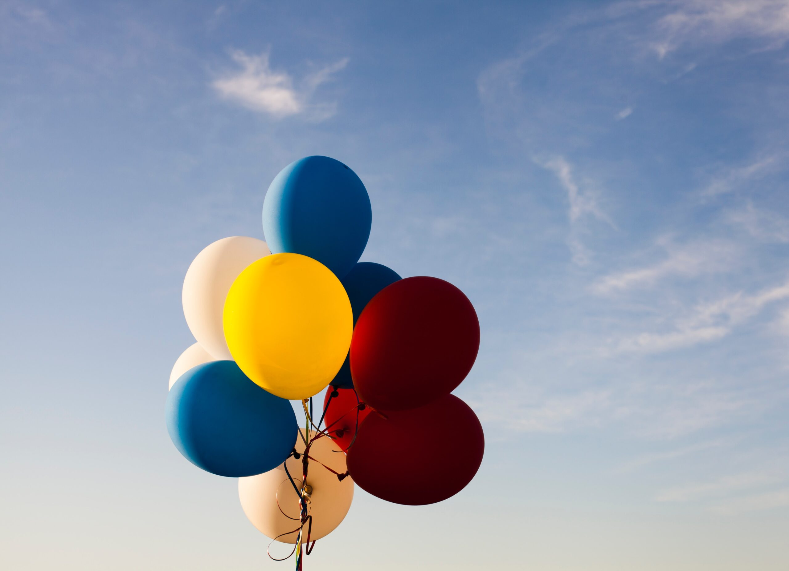colourful balloons in the sky