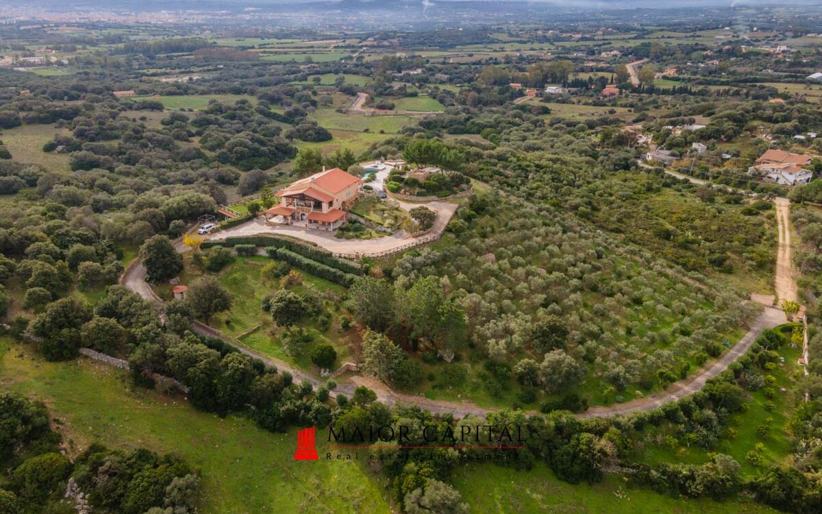 Olbia   Villa with panoramic view