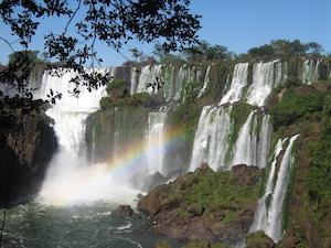 Argentina and Brazil from_braz_side Iguassu Falls -