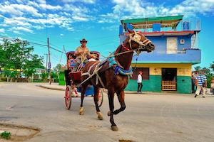 Cuba Bayamo horse carriage