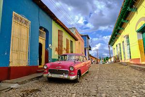 Cuba Trinidad Oldtimer Street