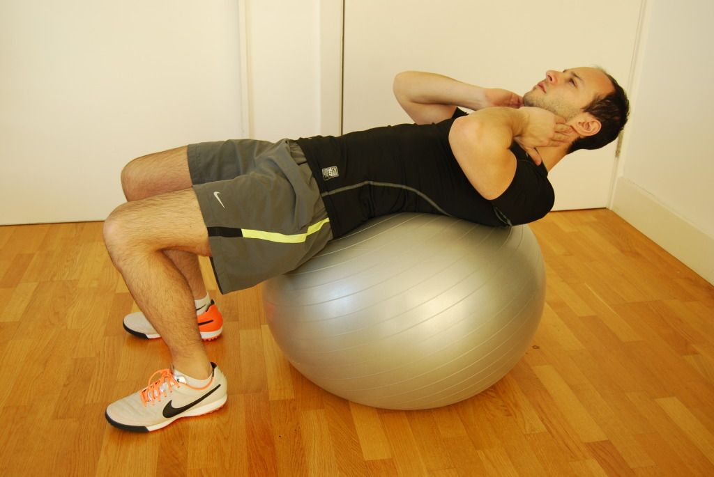 crunches with ball (starting)