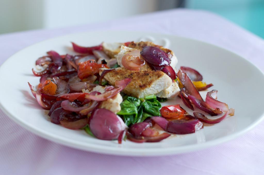 Caramelised Red Onion Turkey Salad
