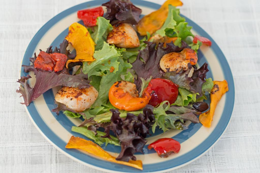 smoked paprika scallop salad