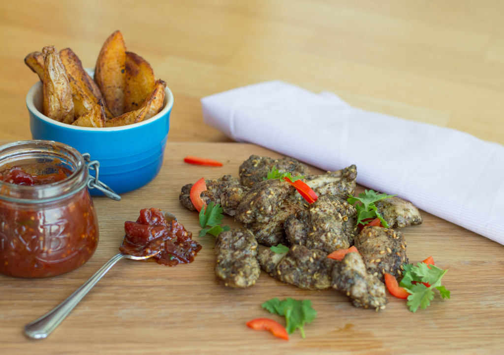 Za'atar Chicken Thighs with Sweet Tomato Relish