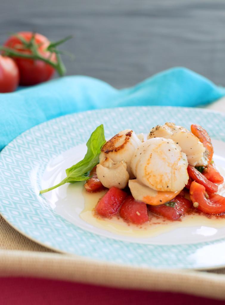 scallops with tomato vierge