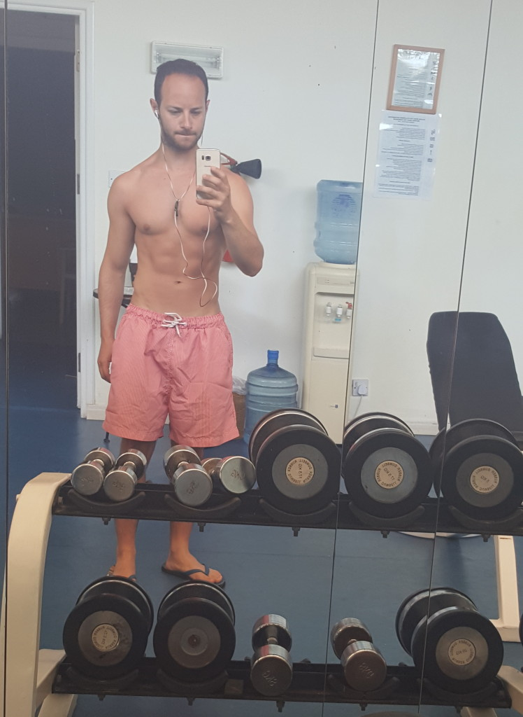 Quick selfie at the hotel's gym!