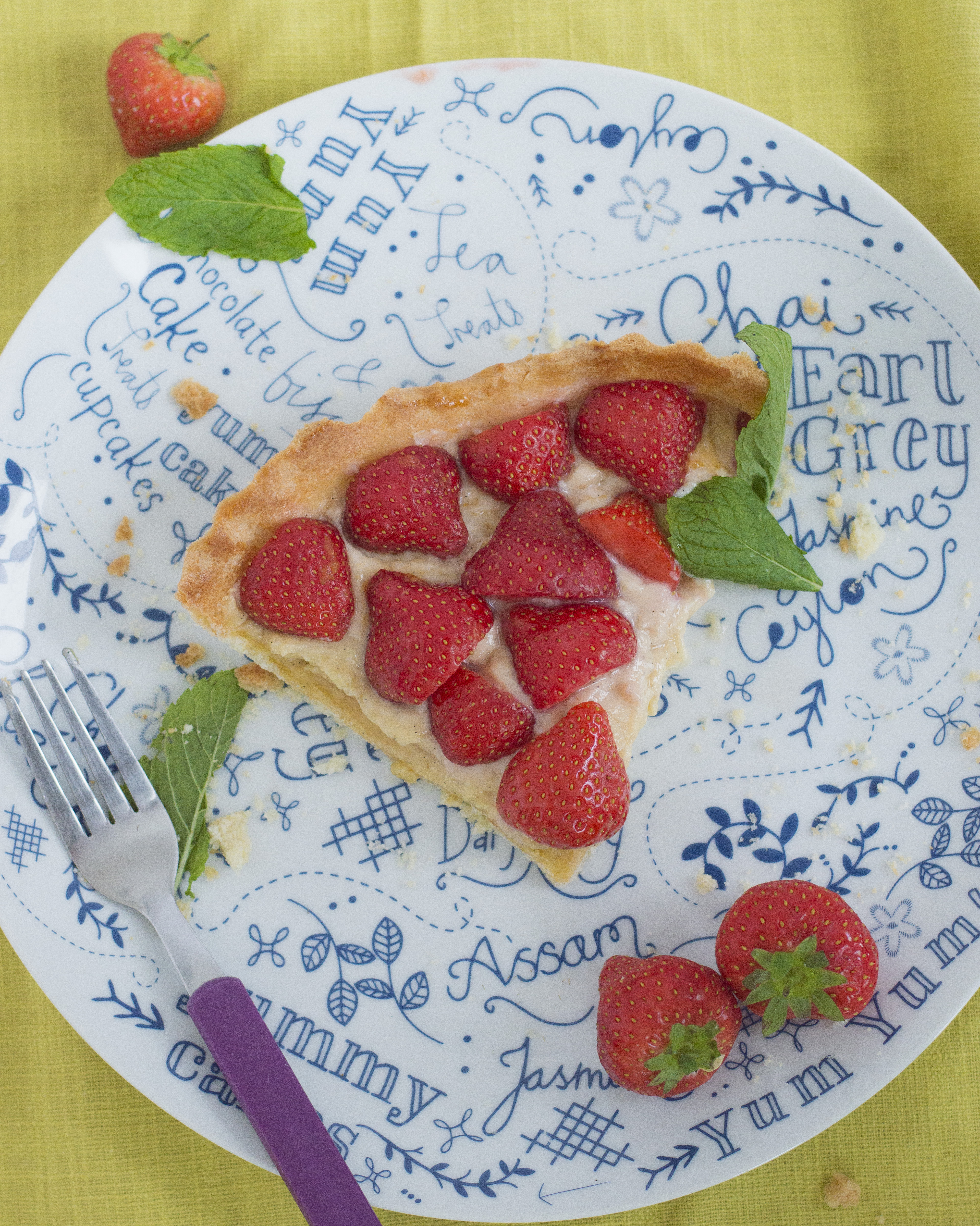 Creme Patissiere Strawberry Tart