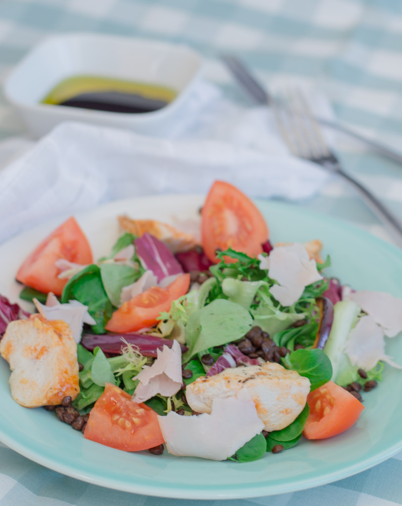 warm lentil, chicken & porchetta salad (2)