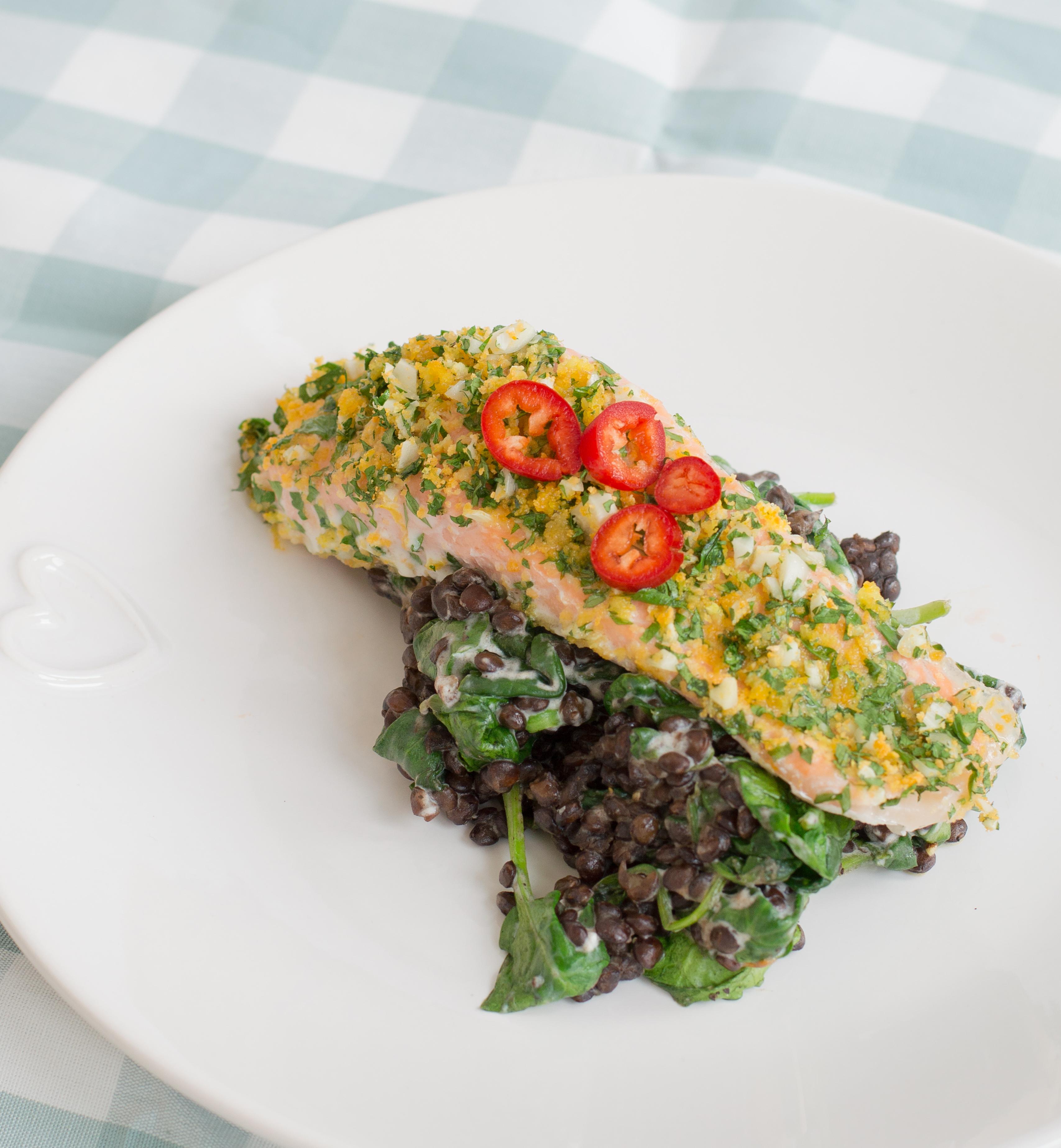 Herb & Lemon-crusted Salmon