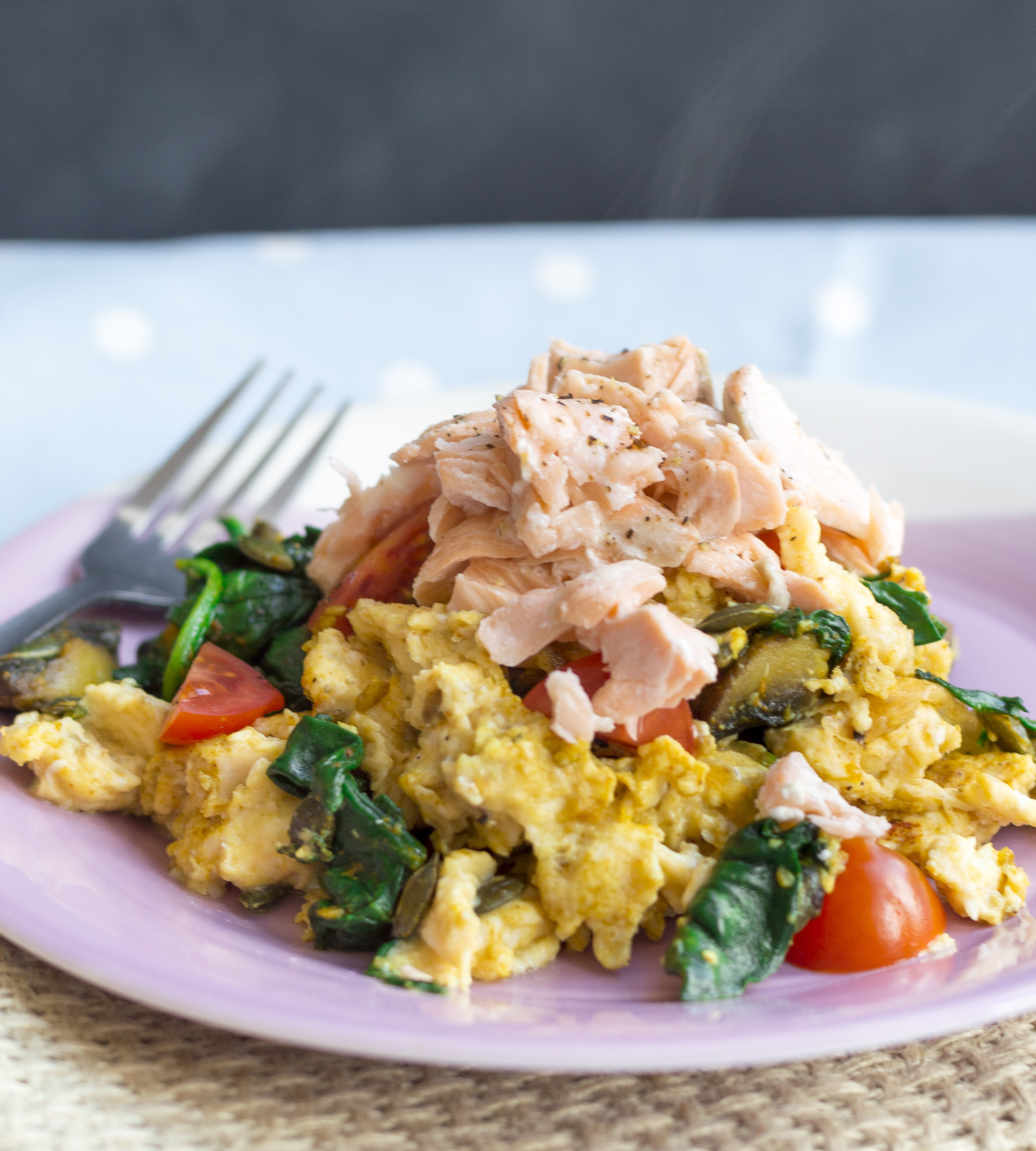Flaked Salmon with Curried Eggs2