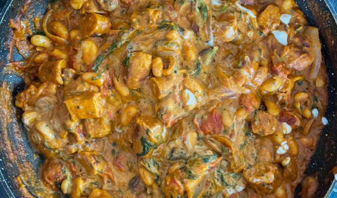 [ RECIPE ] Sausage & Cannellini Bean Curry