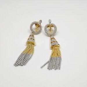 Long Ring style AD Earrings