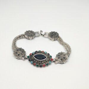 Oxidised Silver Bracelet Antique style