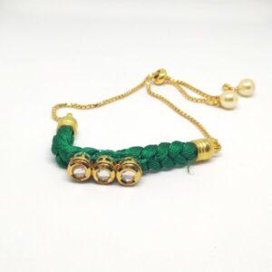 thread base kundan bracelet