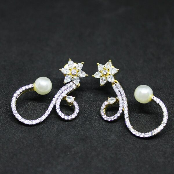 CZ Gold+Silver Plated Earrings 58971