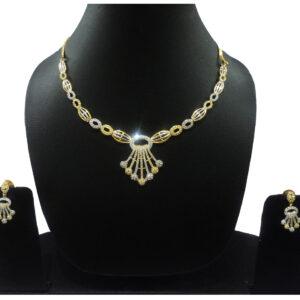 CZ Gold+Silver Plated Bracelet 401009