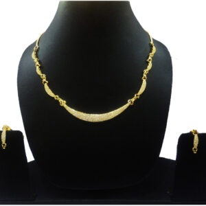 CZ Gold Plated Necklace 400930