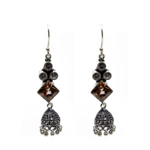 Oxidised Silver LCT Earrings 100007