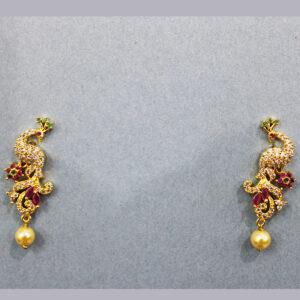 American Diamond Peacock Earrings ER-6613-50
