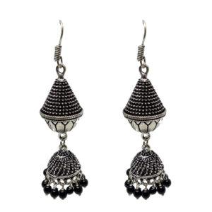 Oxidised Silver Jhumki Earrings ER-6078-30