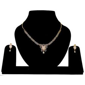 Stylish American Diamond Necklace 401351