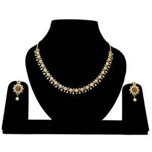 Designer American Diamond Necklace 402873