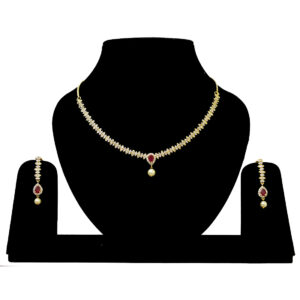 American Diamond Gold Plated Necklace 402901