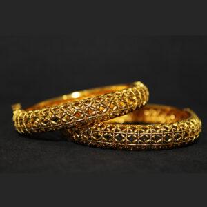Ethnic Gold Plated Bangles BG-1134-80