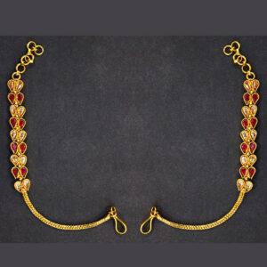 Stylish Gold Plated Ear Chain ER-5962-58