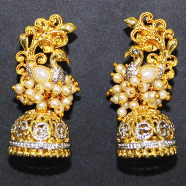 Peacock Gold+Silver Plated Earrings ER-7112-58