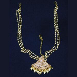 Ruby Gold Plated Maang Tikka HA-117-90-W495
