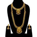Matte Gold Bridal Jewellery Set DH-178-1273