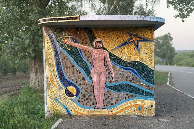7. Rusya, Ivanova'dan bir otobüs durağı.