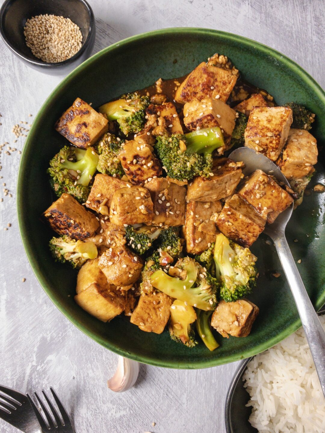 Spicy Tofu and Broccoli Stir Fry