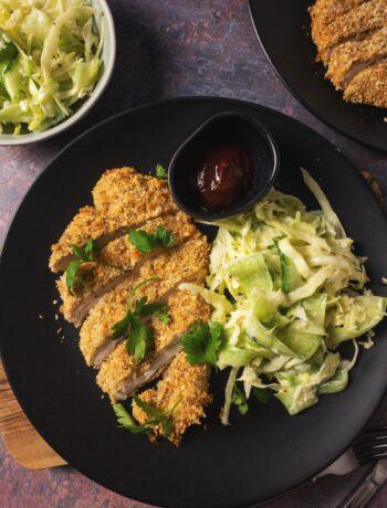 Crispy Baked Chicken Katsu