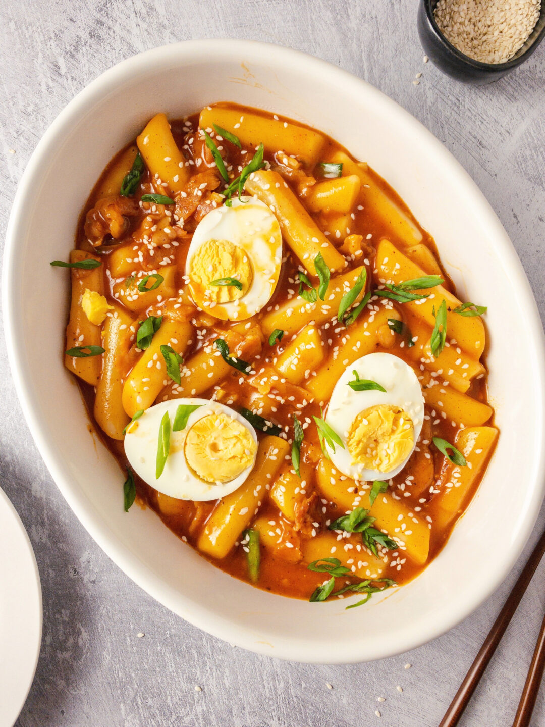 Spicy Korean Rice Cakes (Tteokbokki)