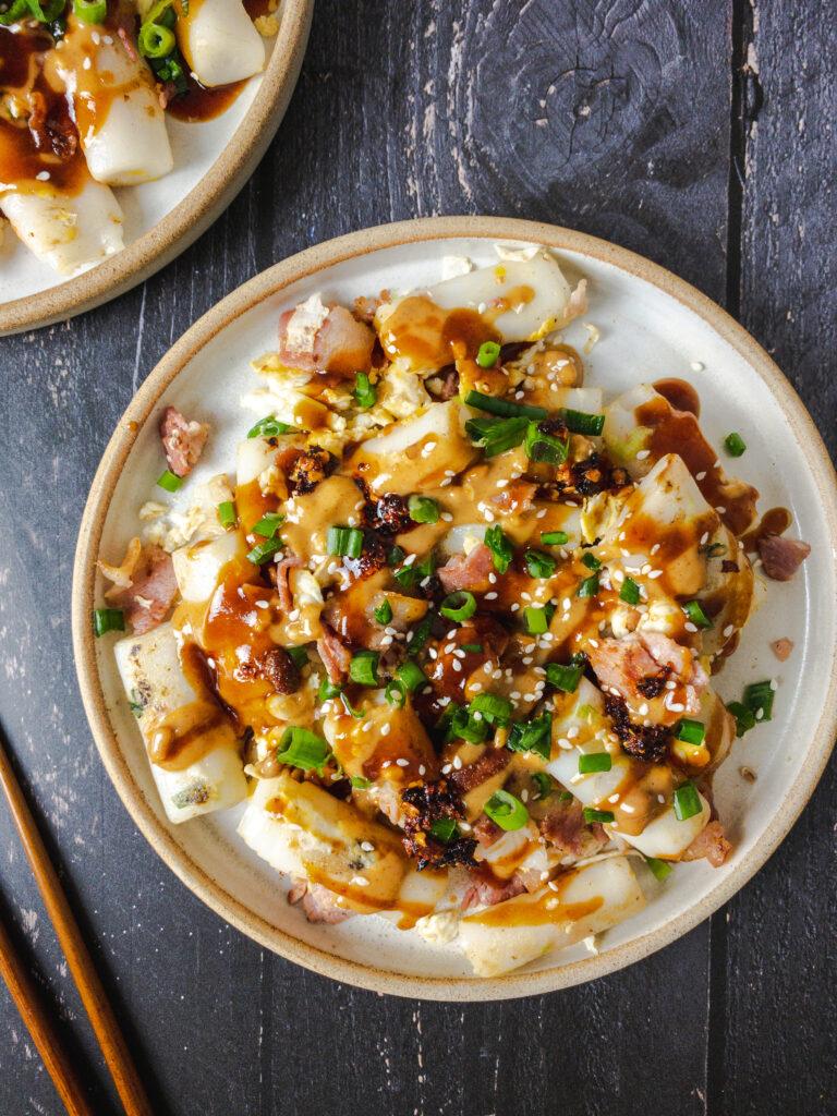Egg Fried Rice Noodle Rolls