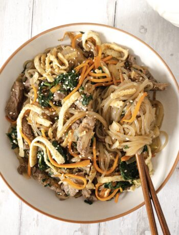 Japchae (Korean Glass Noodle Stir Fry) Recipe
