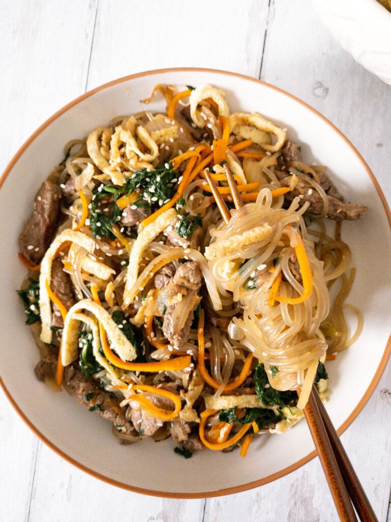 Japchae (Korean Glass Noodles Stir Fry) Recipe