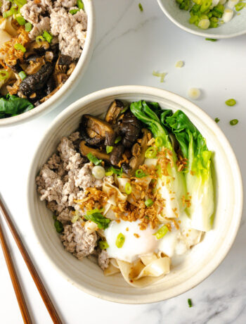 Singapore-Inspired Minced Meat Noodles